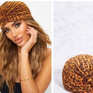 NWT Pretty Little Thing Leopard Print Turban
